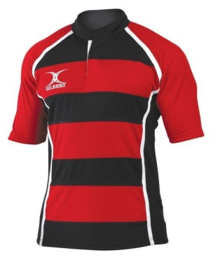Gilbert Rugby Trikot - Xact Hoop - Red/Black