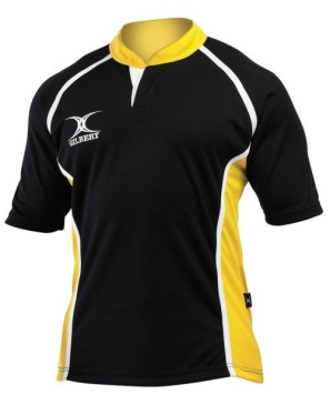 Gilbert Rugby Trikot - Xact - Black/Yellow