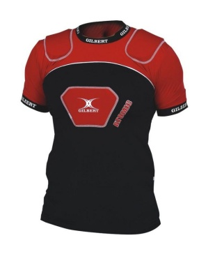 Gilbert Rugby Schulterschutz - Atomic V2 - Black/Red