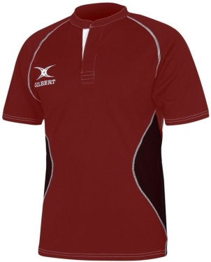 Gilbert Rugby Trikot - Xact V2 - Red/Black