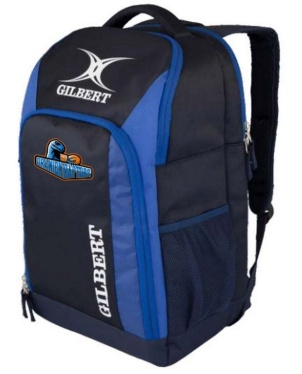 Gilbert Rugby Rucksack V3 - Navy/Royal (Raptors)