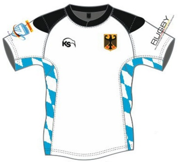 Kiwisport Sublimation Fanshirt - Deutschland Oktoberfest 7s 2017 Away (Kinder)