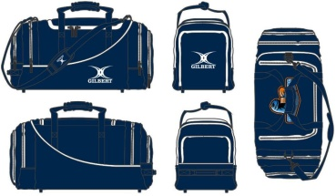 Gilbert Rugby Tasche - Club Player Holdall V2 Navy (Raptors)