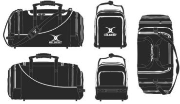 Gilbert Rugby Tasche - Club Player Holdall V2 Black (Leipzig Scorpions)