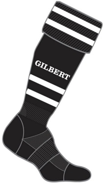 Gilbert Rugby Stutzen - Black/White