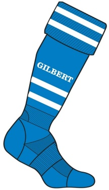 Gilbert Rugby Stutzen - Royal/White