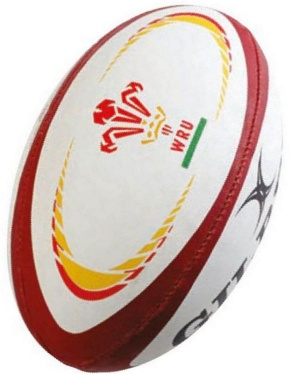 Gilbert Rugby Ball - Wales Replika (Gr. 5)