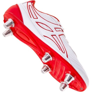 Gilbert Rugby Schuh - Sidestep V1 White/Red