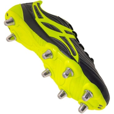 Gilbert Rugby Schuh - Sidestep V1 Black/Yellow