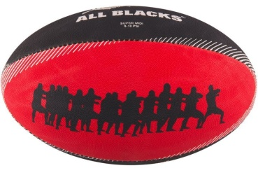 Gilbert Rugby Ball - All Blacks Supporter (Gr. Super Midi 2.5)