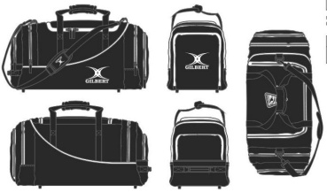 Gilbert Rugby Tasche - Club Player Holdall V2 Black (Victoria Linden)