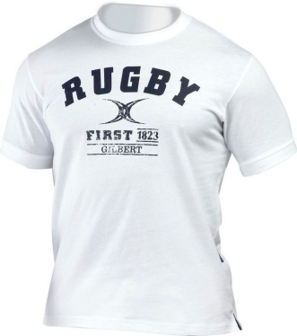Gilbert T Shirt - First in Rugby - White
