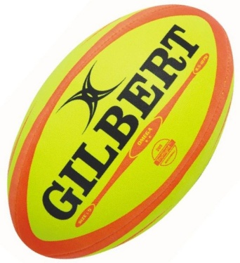 Gilbert Rugby Ball - Omega - Fluoro/Orange Gr. 5
