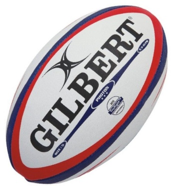 Gilbert Rugby Ball - Photon - Red/Blue Gr. 5