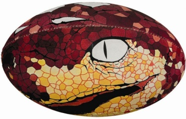 Gilbert Rugby Ball - Supporter Snake (Gr. 5)