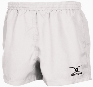 Gilbert Rugby Short - Saracen - White