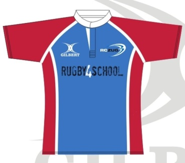Gilbert Rugby Trikot - Royal/Red