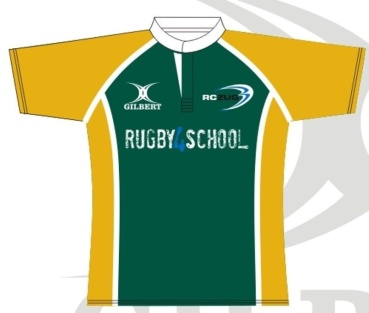 Gilbert Rugby Trikot - Green/Yellow