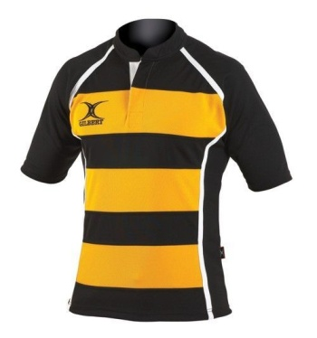 Gilbert Rugby Trikot - Xact Hoop - Black/Yellow