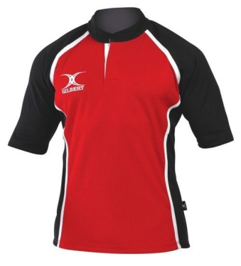 Gilbert Rugby Trikot - Xact - Red/Black