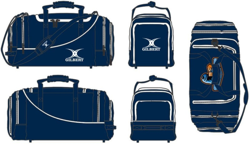 Gilbert Rugby Tasche - Club Holdall V2 Navy (Raptors)