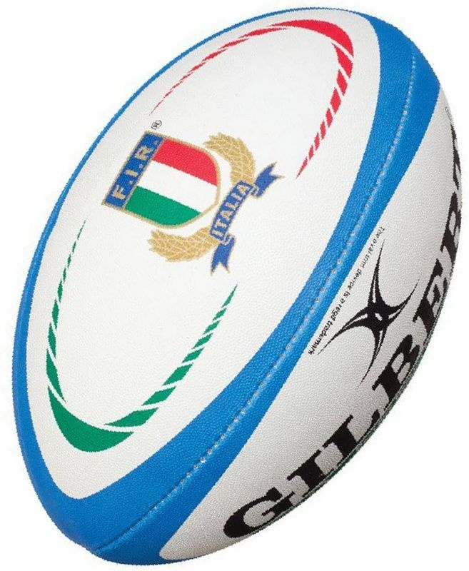 Gilbert Rugby Ball - Italien Replika (Gr. 5)