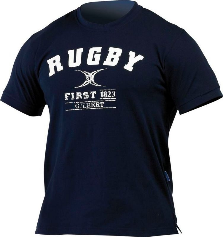 Gilbert T Shirt - First in Rugby - navy